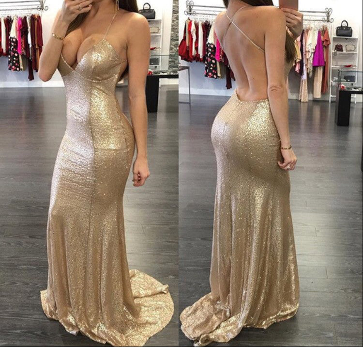 Sexy Prom Dresses,Backless Prom Dress,Spaghetti Straps Prom Dress,New fashion Prom Dress,Attractive Prom Dress,PD0019