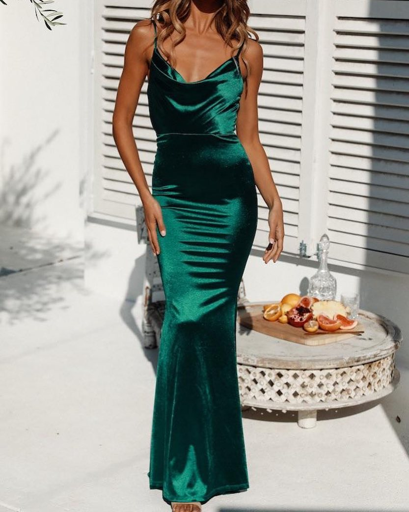 Spaghetti Strap Prom Dresses, Backless Occasion Dress, BH91303