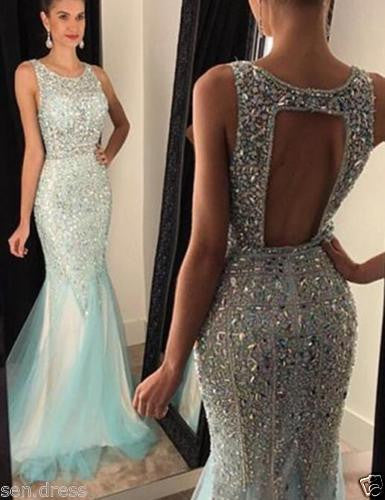 Backless Prom Dresses,Luxury Prom Dress,Charming Prom Dresses,Mermaid Prom Dress,Cheap Prom Dresses,PD00168