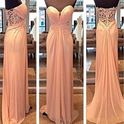 Pink Prom Dresses,Cheap Prom Dresses,See through back Prom Dress,Long Prom Dress,Party Dress,BD140
