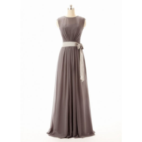 Long bridesmaid dress,gray bridesmaid dress,long bridesmaid dress,cheap chiffon prom dress,BD422