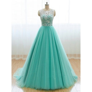 Mint Prom Dress,A-line Prom Dress,Tulle Prom Dress,A-line prom dress,2016 Prom Dress,Party dress gown,BD111