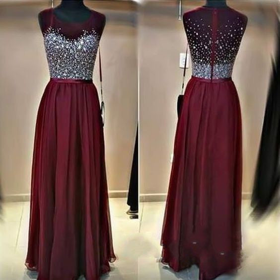 burgundy Prom Dresses,long Evening Dress,charming prom dress,2016 prom dress,BD0391