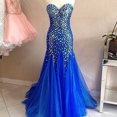 Long Prom Dresses,Sweetheart Prom Dress,Mermaid Prom Dresses,Crystal Prom Dress,Cheap Prom Dresses,PD00114