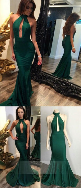 Mermaid Halter bodycon prom dresses, Hunter elegant evening dresses, Backless sexy party Dresses,PD455836