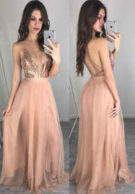 v-neck prom dress,long Prom Dress,sexy prom dress,2017 evening dress,open back evening dress,BD2922