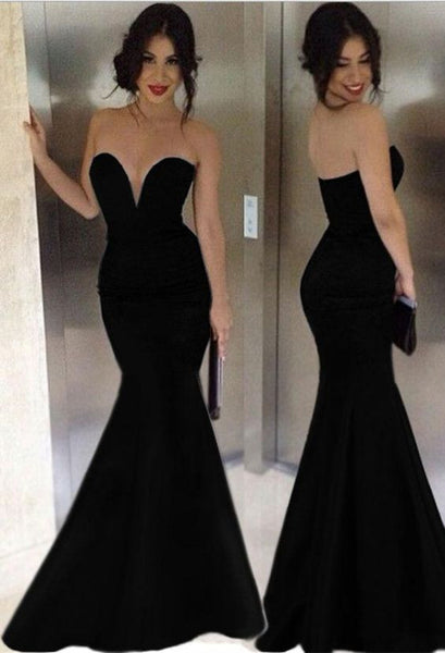 black Prom Dresses,sweetheart prom dress,mermaid prom Dress,long prom dress,evening dress,BD0406