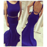 royal blue Prom Dress,mermaid prom dress, long prom dress,backless prom dress,BD0699