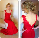 long prom dress,red Prom Dress,lace prom dress,mermaid prom dress,evening dress,BD1685