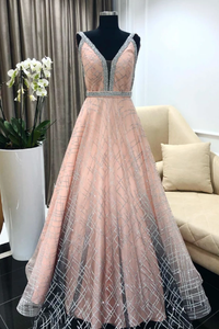 blush formal princess long cheap prom dress, HO247