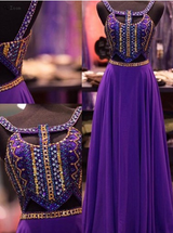 purple prom Dress,two pieces Prom Dress,charming prom dress,2016 prom dress,Long prom dress,BD1201