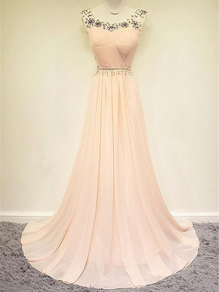Prom Dresses Pearl Pink Long Prom Dress,PD4558987