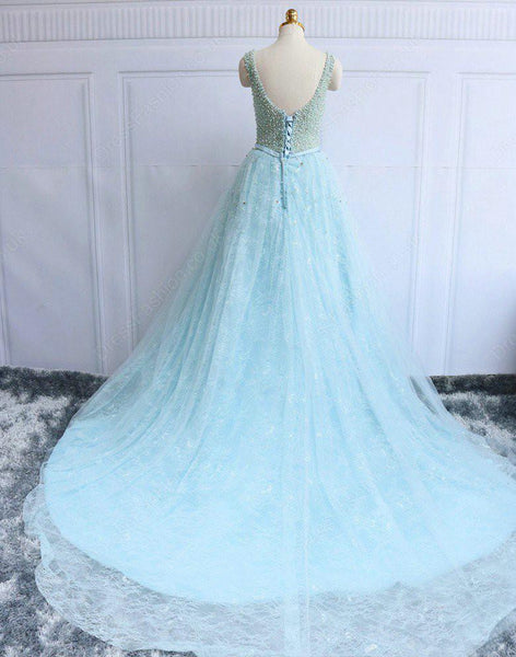 Prom Dresses, Long Lace Beading Lace-up Prom Dresses,PD4558996