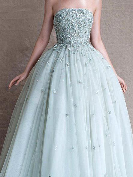 Beautiful Prom Dresses Strapless Floor-length Prom Dresses,PD4558935