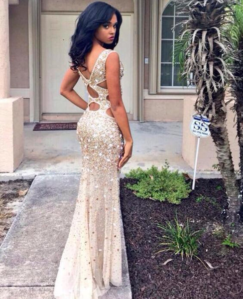 Sexy Luxury Prom Dresses Straps Rhinestone Long Prom Dresses,PD4558936