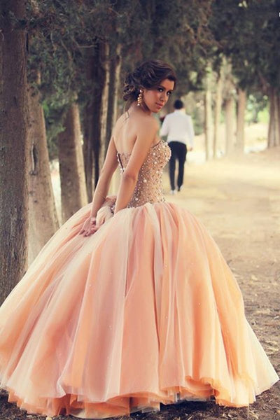 Ball Gown Prom Dresses. Sweetheart Floor-length Tulle Prom Dress,PD4558711