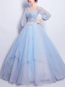 Beautiful Prom Dresses, Light Sky Blue Prom Dress,PD4558970