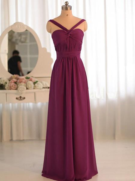 Cheap Prom Dresses, Straps A-line Floor-length Sexy Prom Dresses,PD4558755