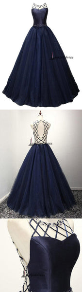 Beautiful Prom Dresses, Scoop Floor-length Prom Dress,PD4558751