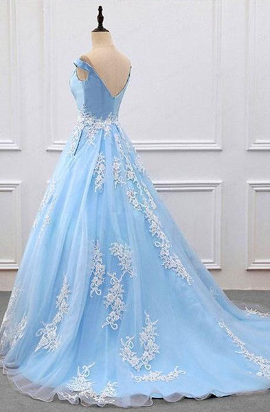 Chic Prom Dresses, Off-the-shoulder Train Sexy Prom Dresses,PD4558756