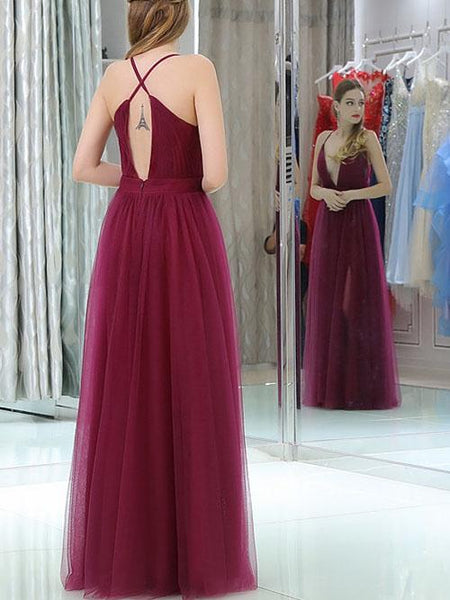 Cheap Prom Dresses, Halter A-line Floor-length Sexy Prom Dresses,PD4558754