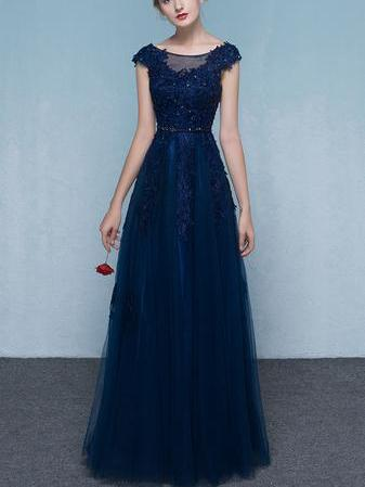 Chic Red Prom Dresses, Floor-length Long Prom Dresses,PD4558746