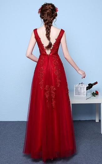Chic Prom Dresses, Straps Appliques Long Sexy Prom Dresses,PD4558745