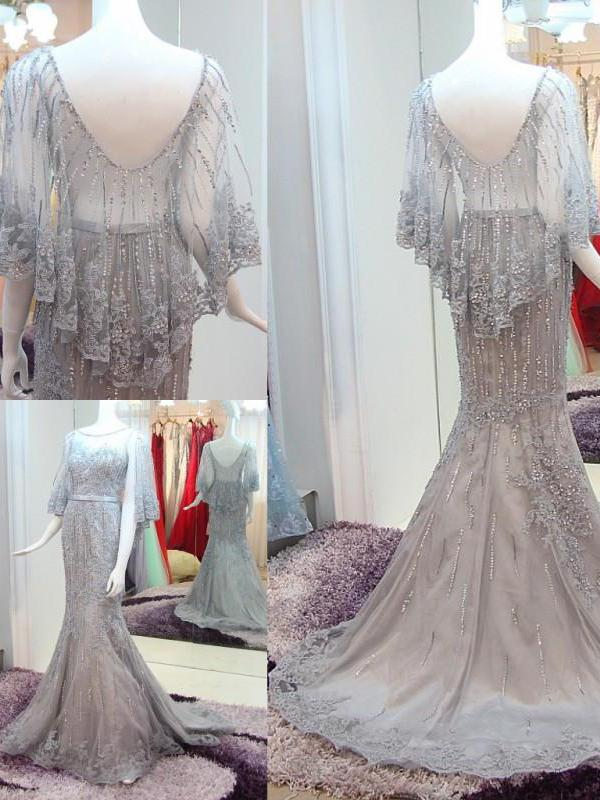 Beautiful Prom Dresses Sweep,Brush Train Rhinestone Long Luxury Prom Dresses,PD4558752