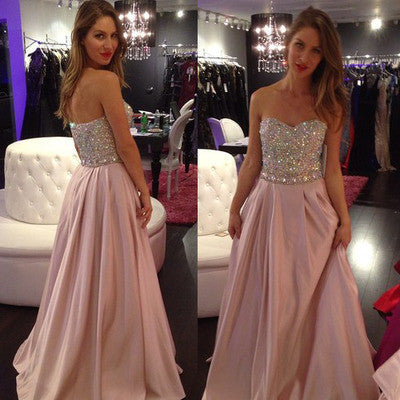 Pink prom dresses,Charming prom dresses, Long Evening Dresses, 2016 prom Dresses,BD015