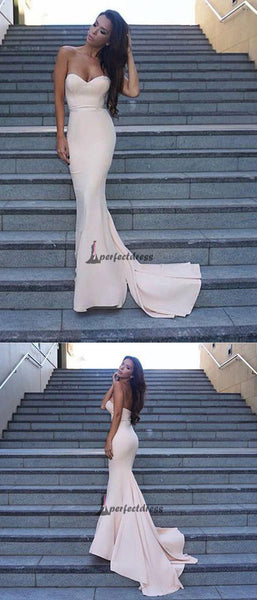 Simple Long Prom Dress, Sweetheart Mermaid Prom Dresses,PD4558736