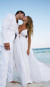 Cheap Prom Dresses,V-neck Prom Dress,Long Prom Dresses,White Prom Dress,Chiffon Prom Dress,PD0092