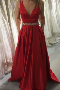 Heather Hartwick Heather Hartwick saved to Prom/Evening in Dresses Red Prom Dresses,A-line Prom Dresses,V-neck Satin Prom Dresses,Long Prom Dresses,PD45790