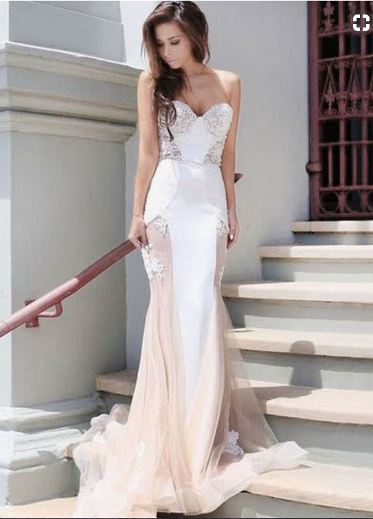 mermaid prom dresses,sweetheart prom dresses,tulle prom dresses,backless prom dresses,sexy prom dresses,BD455854