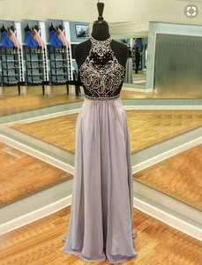 Green two pieces lace long prom dress, long evening dresses,PD4558922