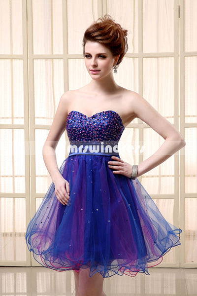Simple Prom Dresses,Vintage Prom Gowns,Short Evening Dress, Homecoming Dresses,SD101