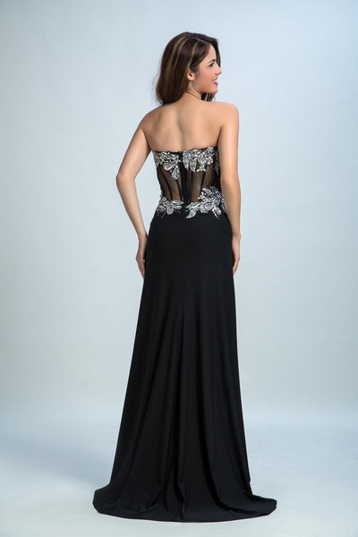 Sexy Prom Dresses, 2018 Black Sheath Sweetheart Floor-length Evening Dresses,PD4558719