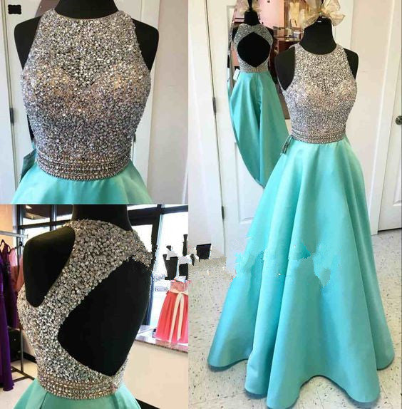 Sexy Prom Dresses,Cheap Prom Dress,Long Prom Dress,Beading Prom Dress,High Neck Prom Dress,PD0015