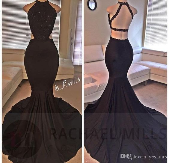 2017 prom dress, black mermaid long prom dress, black long mermaid evening dress with slit,PD45823