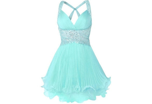 Homecoming dress,short prom Dress,mint Prom Dresses,Party dress for girls,evening dress,BD363