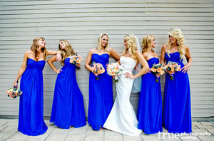 royal blue bridesmaid dress,long bridesmaid dress,chiffon bridesmaid dress,cheap bridesmaid dresses,BD828