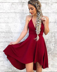 Cute v neck short prom dress, homecoming dresses,072503