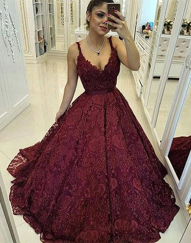 V neck lace long prom dresses, evening dresses,072510