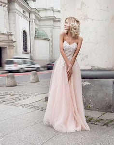 Beautiful sweetheart neck lace long prom dresses, formal dresses,BD1120