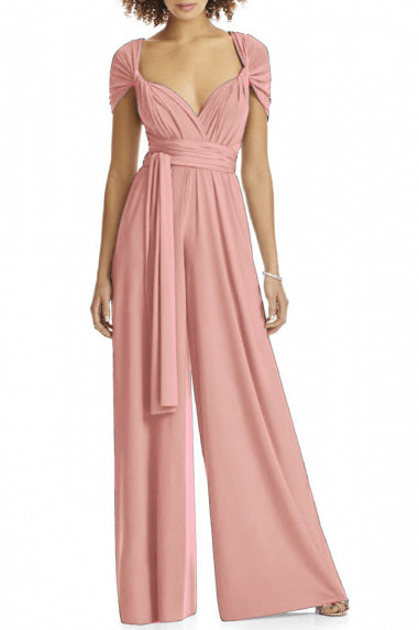 Pink Bridesmaid Dresses,Chiffon Bridesmaid Dress,convertible Bridesmaid Dress,Jumpsuit Bridesmaid Dresses,Chic Bridesmaid Dress,PD016820