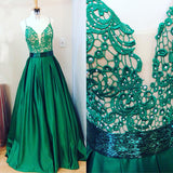 Spaghetti Straps Prom Dresses,Appliques Prom Dress,Beading Prom Dresses,A-line Prom Dress,Cheap Prom Dresses,PD00169