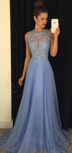 A-line backless Prom Dress,light sky blue lace Prom Dress , chiffon Prom Dress for teens,BD1463