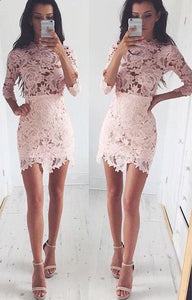 short homecoming dresses, homecoming dresses short, lace homecoming dresses,PD45502