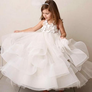 Flower Girl Dress For Wedding, Cheap Little Girl Dress, Lovely Party Dress For Girls, FD023