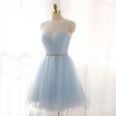 short bridesmaid dress,tulle bridesmaid dress,homecoming dress,short prom dress,BD691