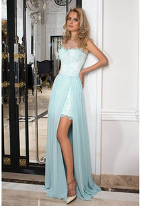 blue slit prom dresses,evening dresses, prom dresses,BD455856